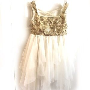 Other - Gold & cream recital dress